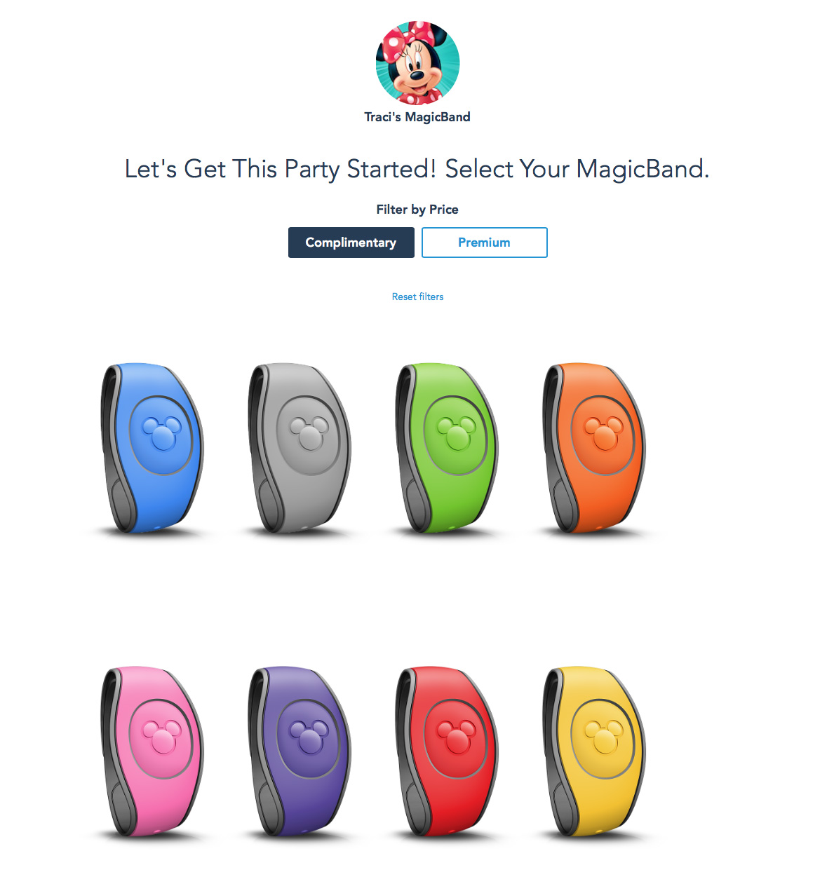 Choose a MagicBand