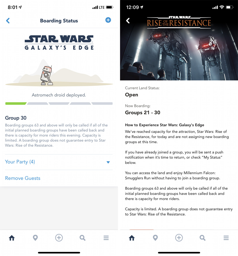 Rise of the Resistance Disney app