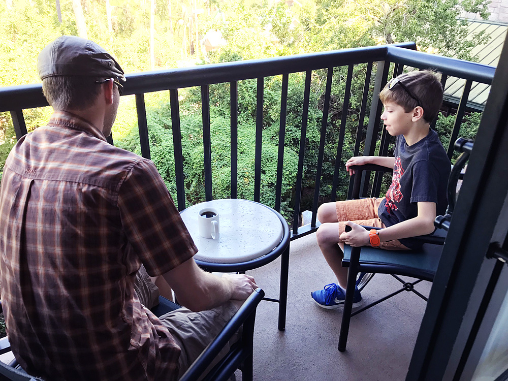 Wilderness Lodge balcony