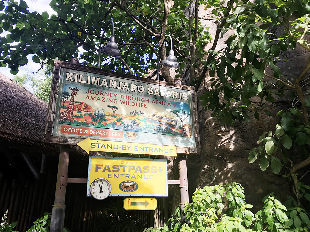 Animal Kingdom FastPass Kilimanjaro Safaris
