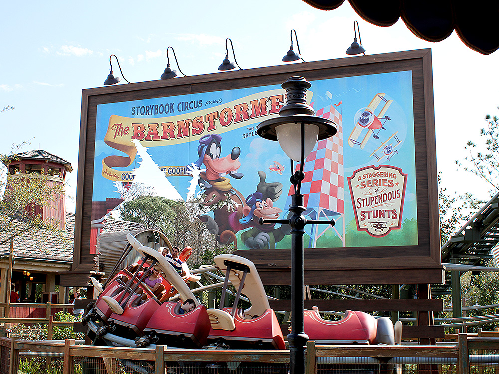 Magic Kingdom rides Barnstormer