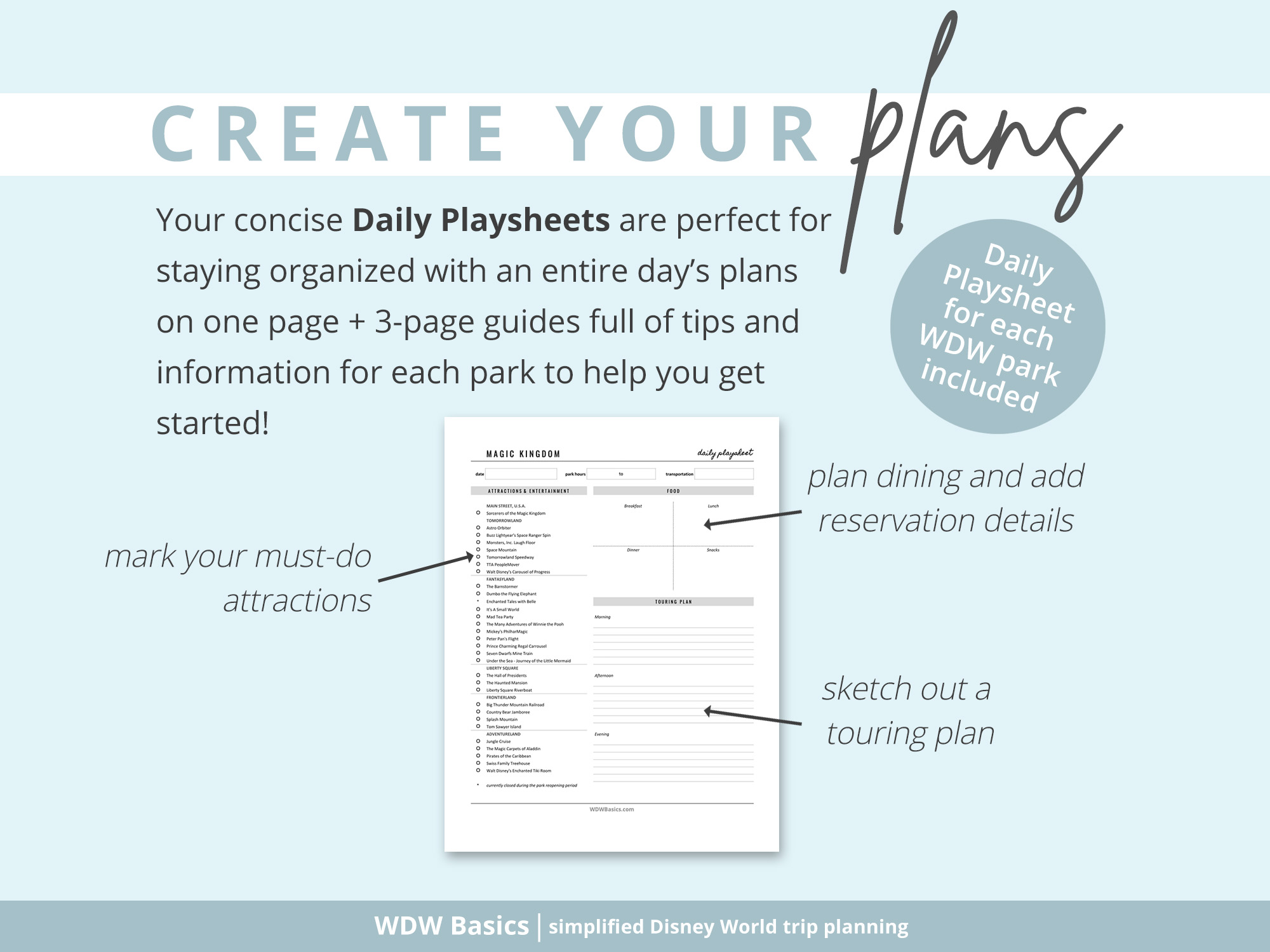 Create Your Plans