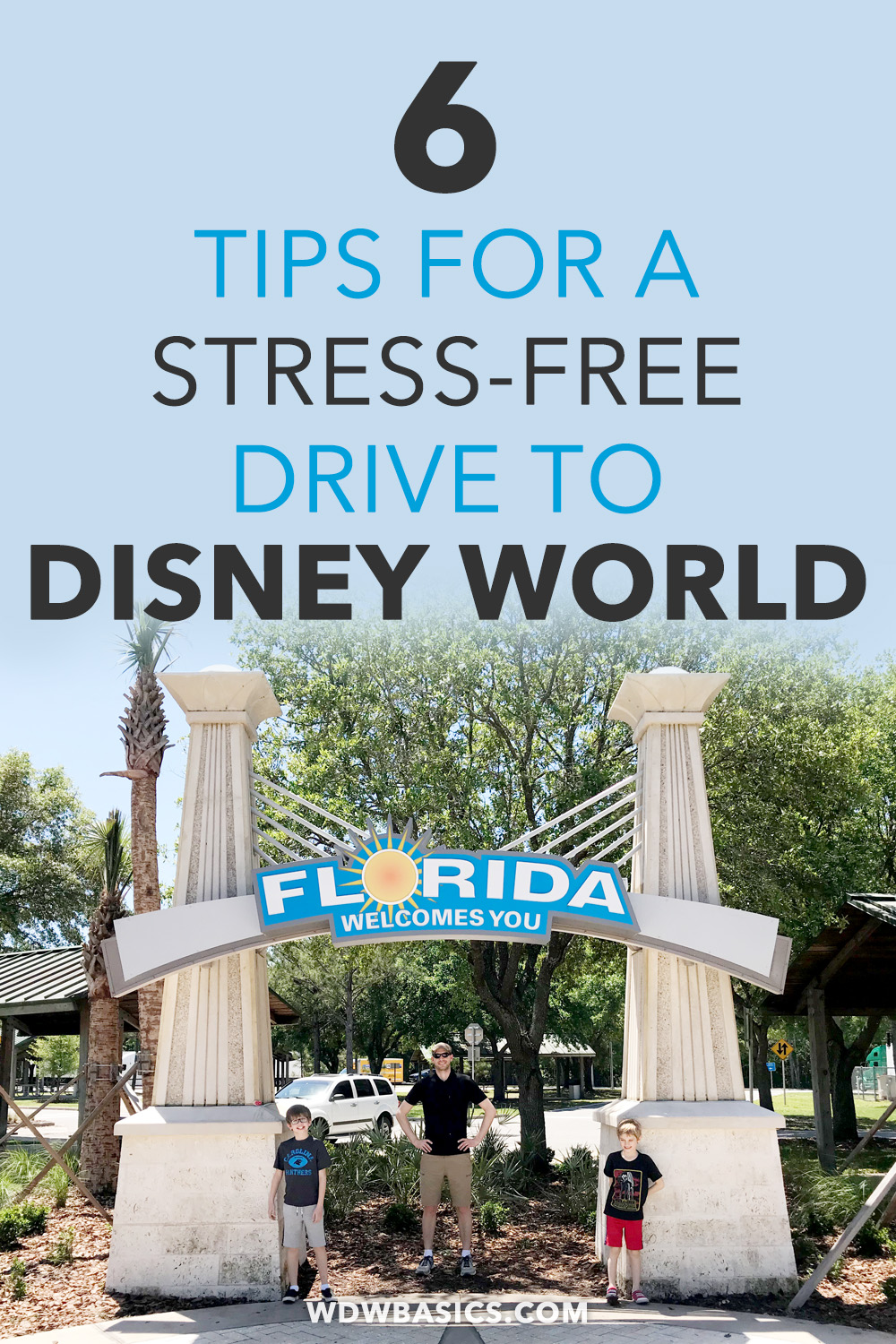 6 Tips for a stress-free drive to Disney World