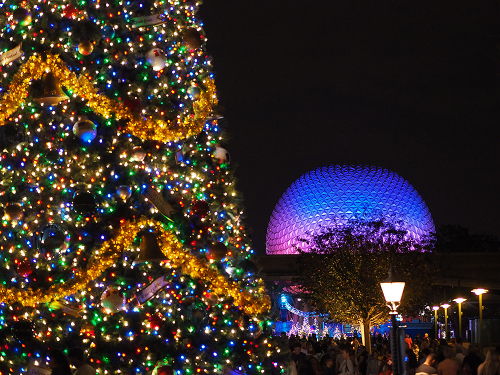 Epcot at Christmas