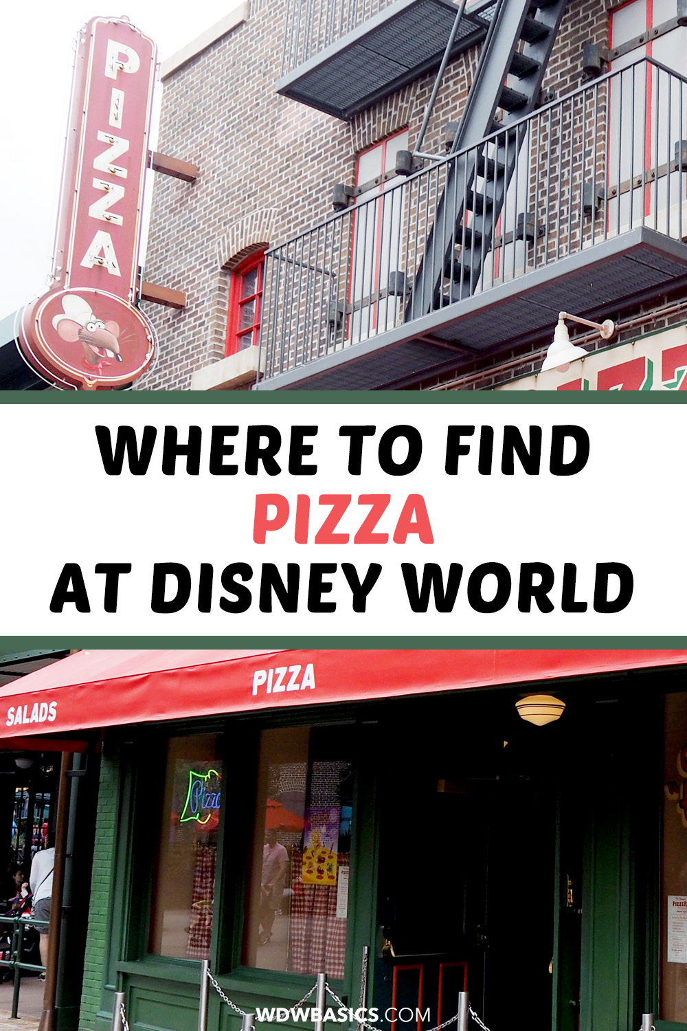 Where to find pizza at Disney World