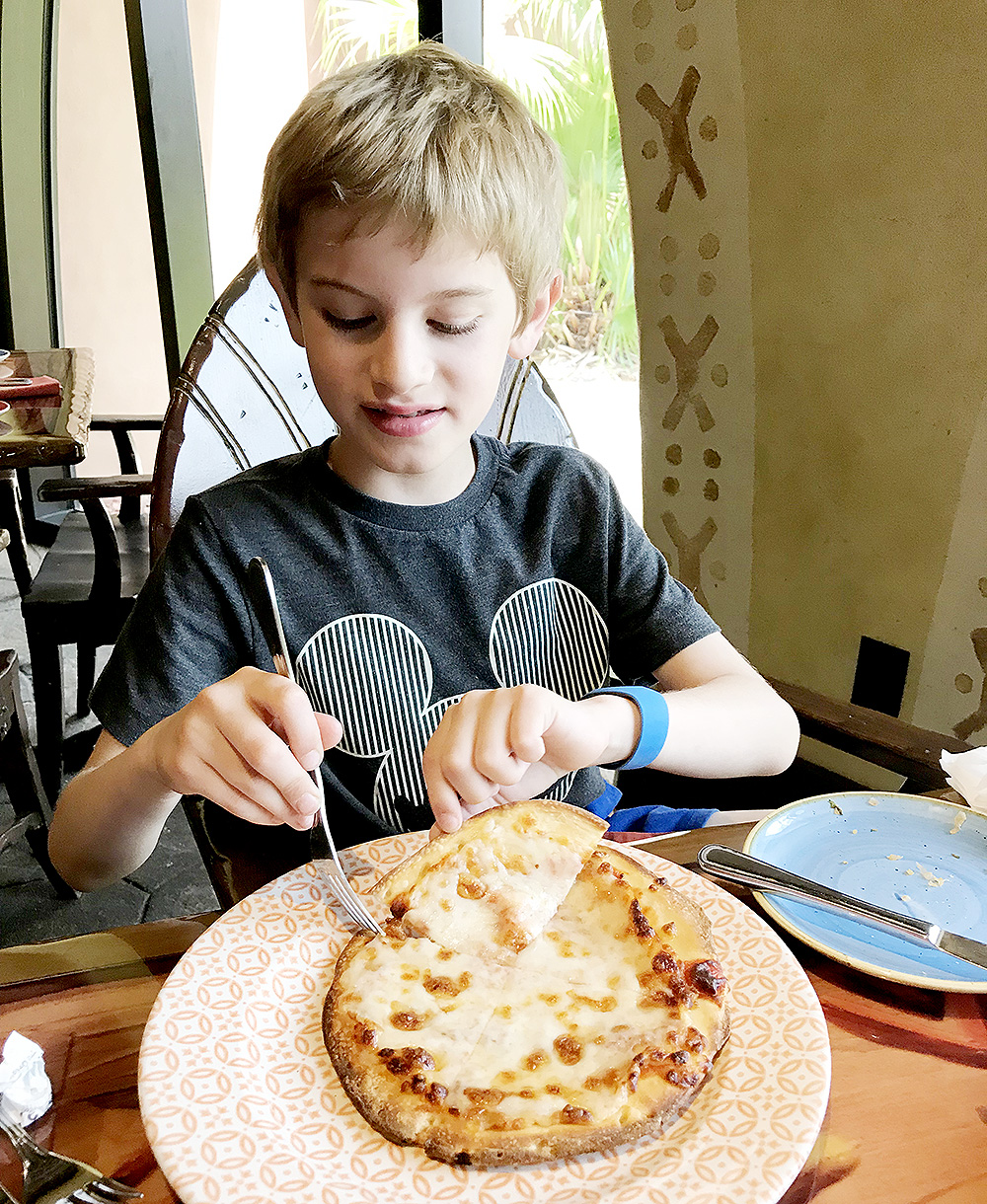 Pizza at Sanaa at Disney's Animal Kingdom Lodge - Kidani Village