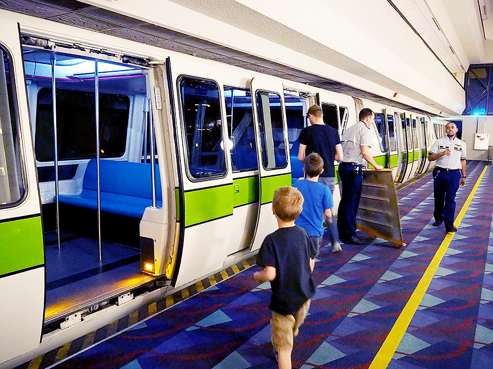 Monorail station at the Contemporary Resort