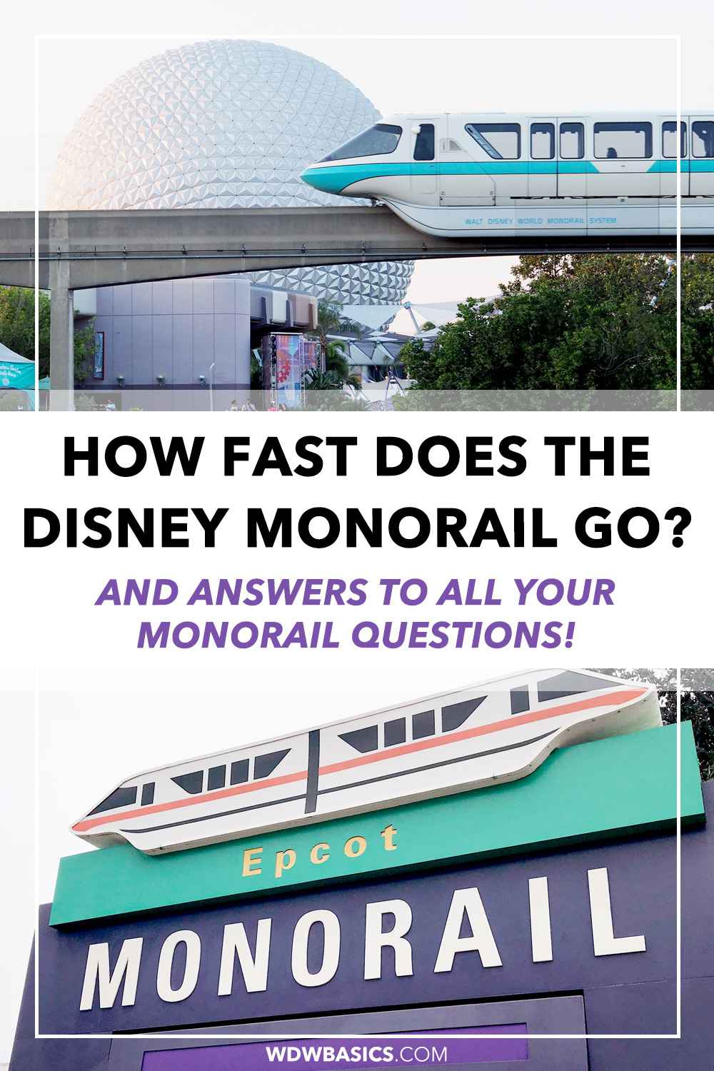 How fast does the Disney World monorail go?