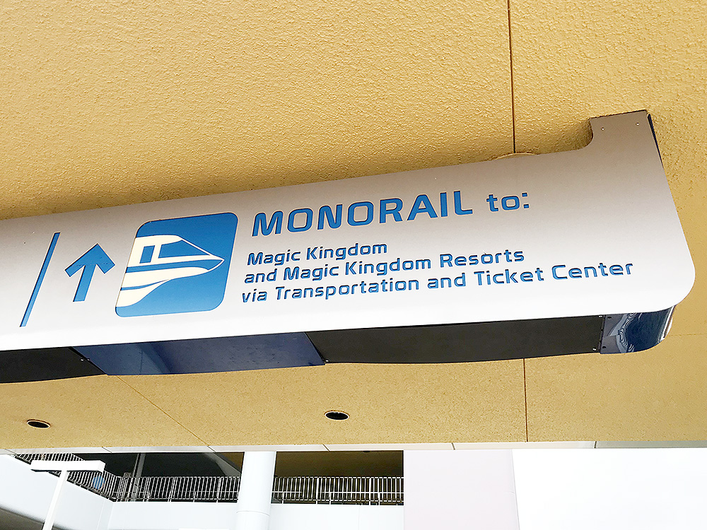 Monorail transfer from Epcot to Magic Kingdom